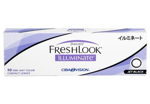 Freshlook Illuminate 1-Day 10 szt.  0,00 Jet Black
