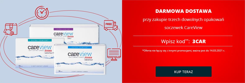 Darmowa dostawa przy zakupie trzech dowolnych opakowań soczewek CareView