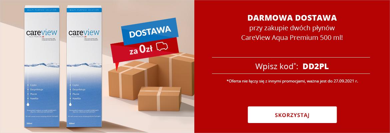 DARMOWA DOSTAWA przy zakupie dwóch płynów CareView Aqua Premium 500 ml